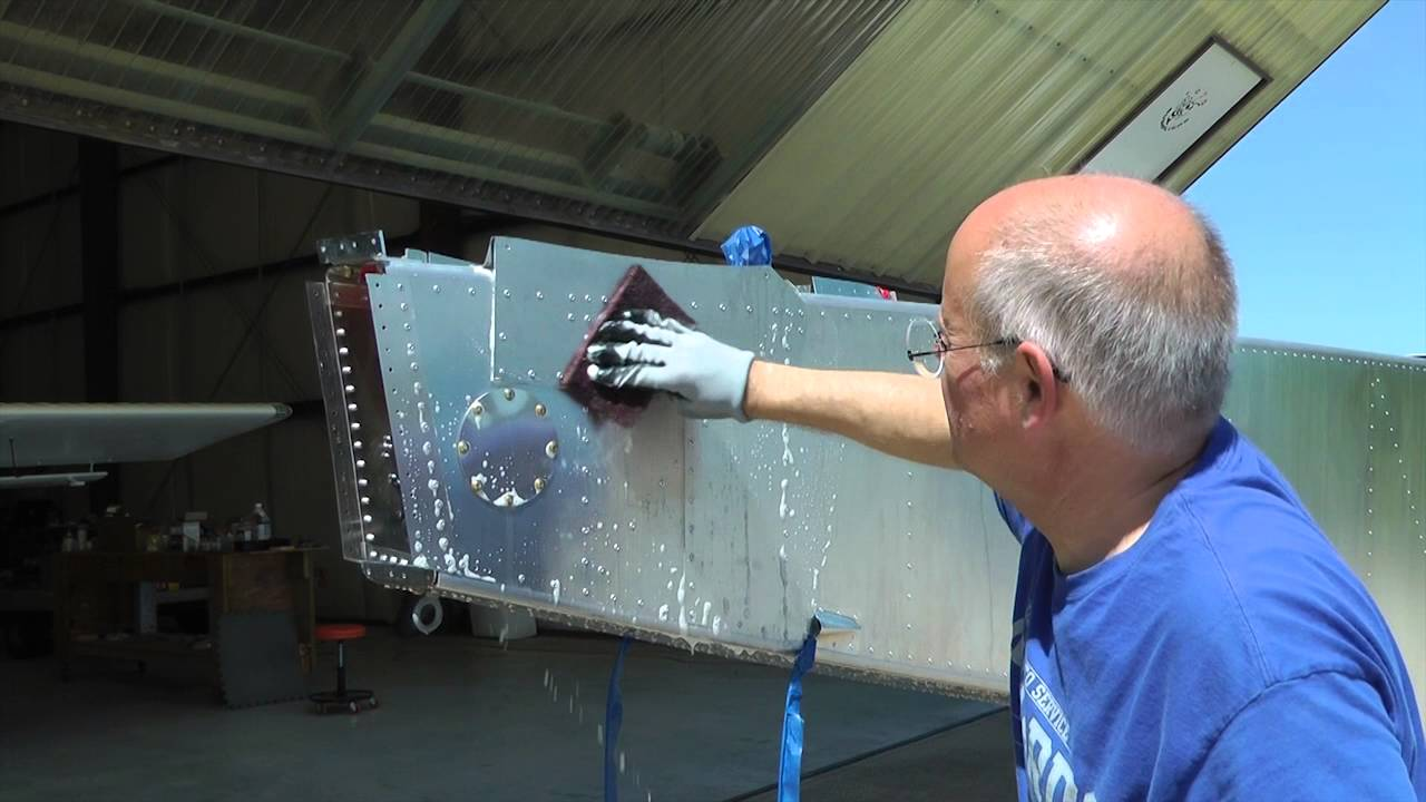 Preparing Aluminum For Aircraft Painting Youtube