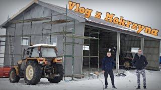 Budowa na Gospodarstwie w Mokrzynie ☆ 2'poziomowy Garaż, Wiata na 3x kombajny ㋡ MafiaSolec