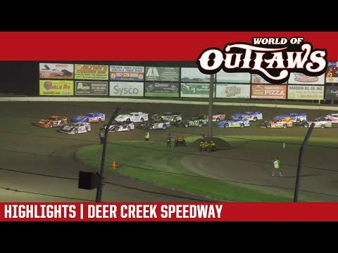 World of Outlaws Craftsman Late Models Deer Creek Speedway July 8, 2017 | HIGHLIGHTS