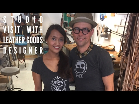 VISIT Vancouver Canada artist designer maker of HANDMADE leather goods bags workshop studio - AIDAs