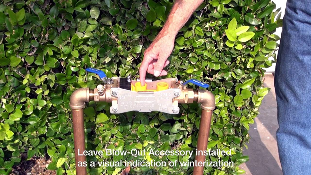 Zurn Wilkins Backflow Prevention 300 Series - How to Winterize