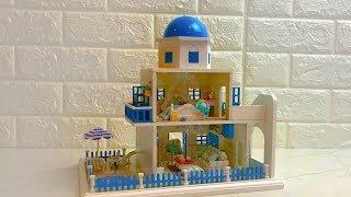 DIY Miniature Dollhouse Romantic Santorini Island