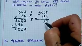 4 sınıf matematik 1 dönem 3 yazılıya hazırlık soruları