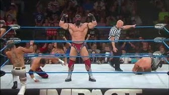 Tag Title Match:  The Wolves vs. The Menagerie vs. the BroMans (July 3, 2014)