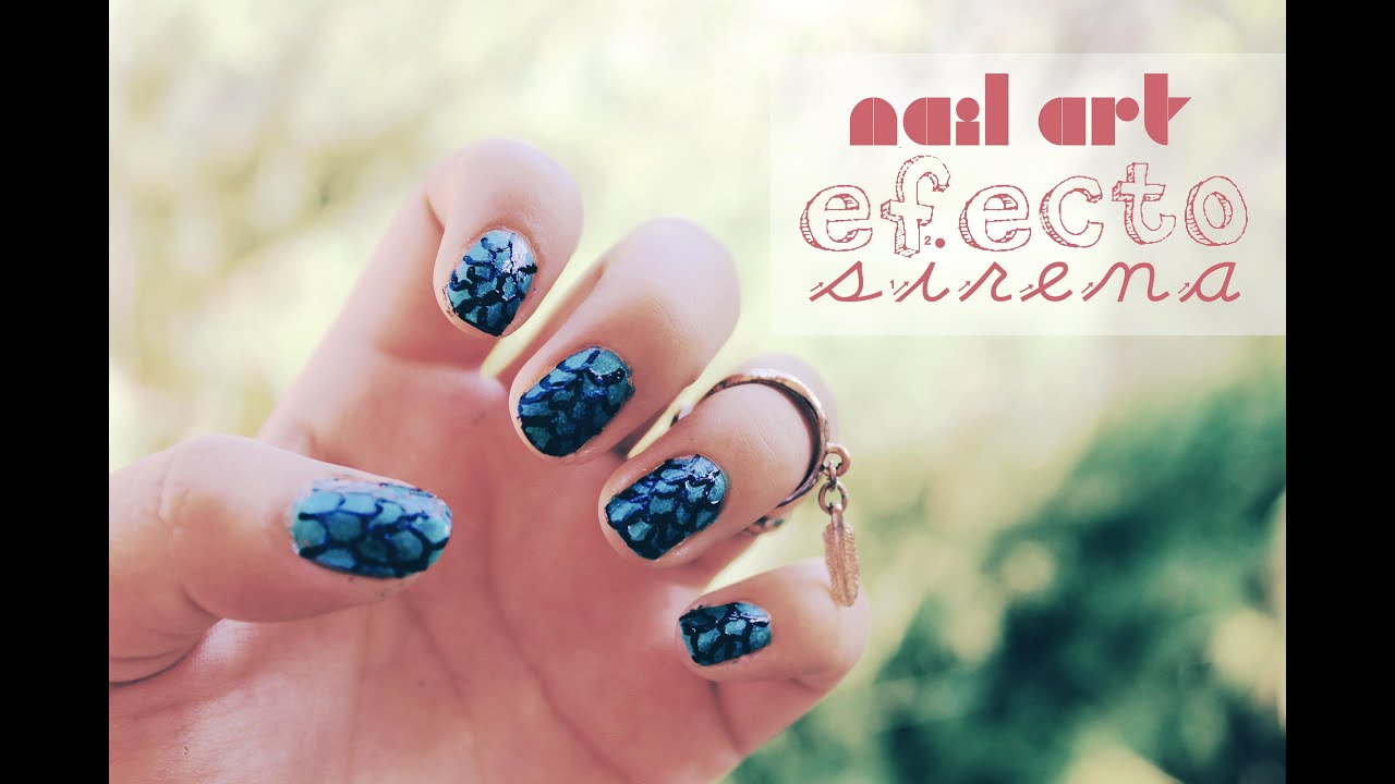 Nail art efecto sirena - YouTube