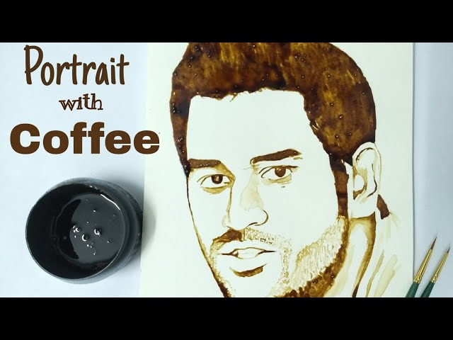 Portrait with Coffee | Dhonis Portrait | Idyllic Galleria