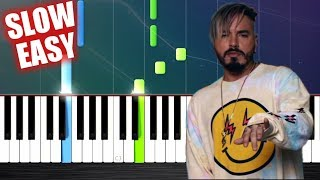 J. Balvin Willy William Mi Gente - SLOW EASY Piano Tutorial by PlutaX.mp3