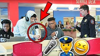 RAPPING in the Library PRANK! (COPS CAME)