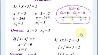 #38 Урок 28. Уравнения с модулем. Математика 6 класс.