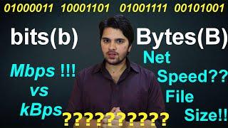 [Hindi-हिन्दी ] Bits vs Bytes : Explained !! #AnkushTyagiExplains