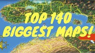 TOP 140 BIGGEST MAPS in Open World Games