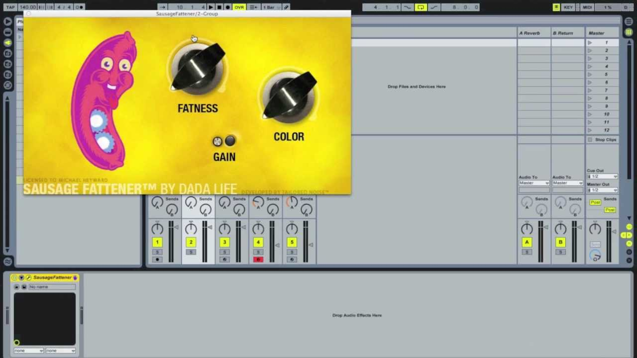 Bussing / Grouping in Ableton Live - Tutorial with sausage fattener