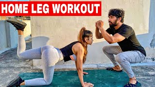 Best HOME LEG WORKOUT (NO GYM) | WITHOUT EQUIPMENT