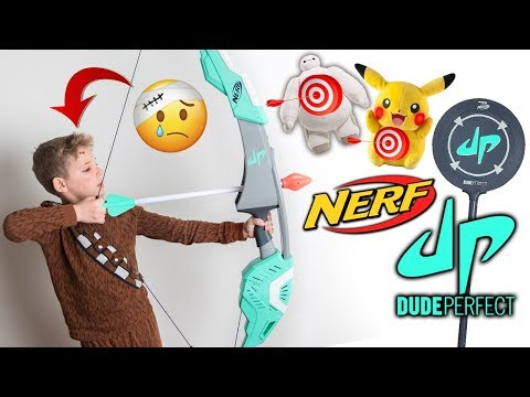 I Got Stitches🤕 | DUDE PERFECT NERF BOW Toy Review!