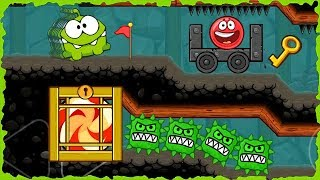 Om Nom In Red Ball 4 Into The Cave Mobile Game Walkthrough