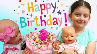 Ліза відзначає день народження ляльки Baby Born   3 роки   Ліза маленький кухар