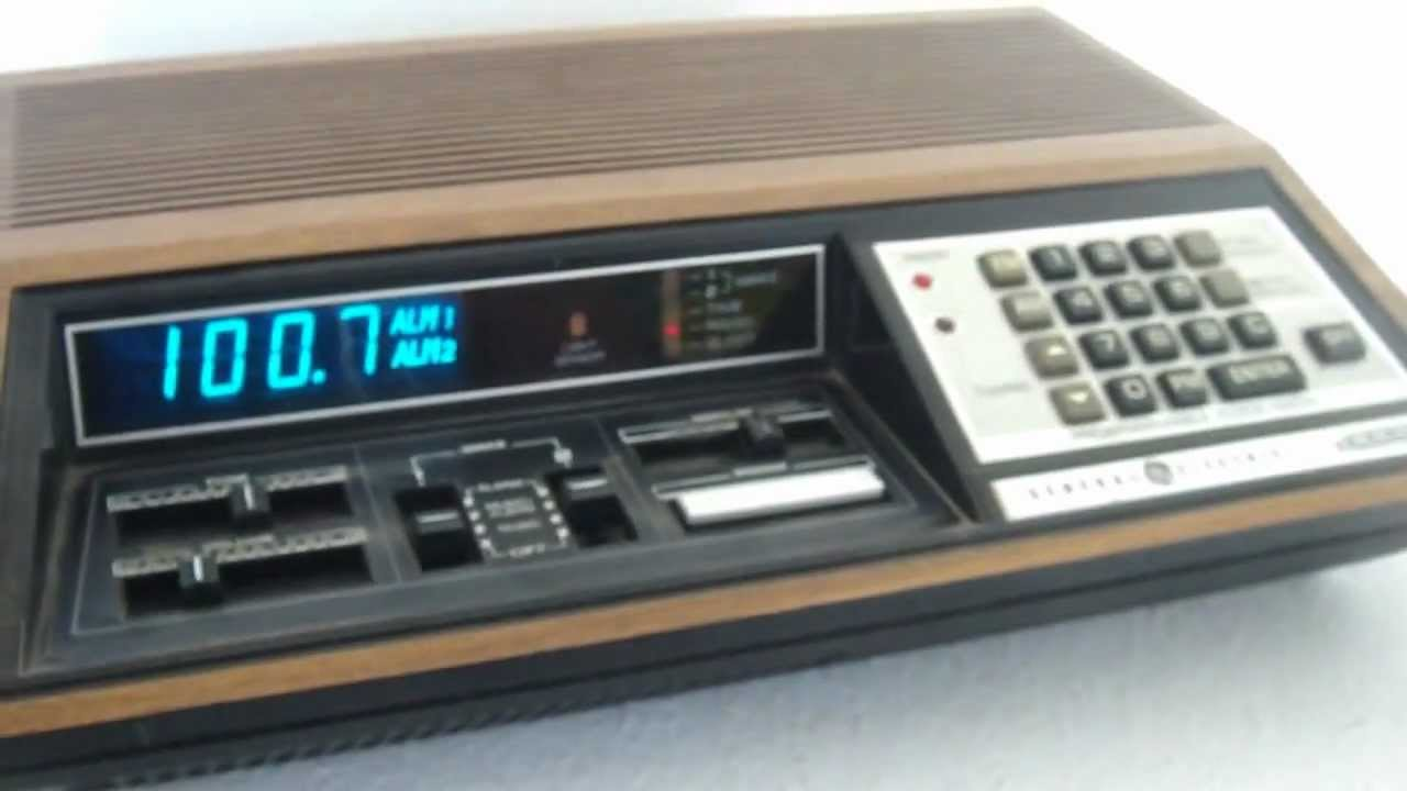 ge model 4885 programmable clock radio for sale on ebay youtube. Black Bedroom Furniture Sets. Home Design Ideas
