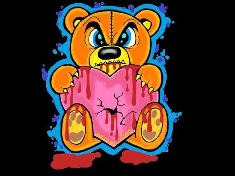 How To Draw A Evil Teddy Bear - Como Dibujar Un Osito - Valentines Day