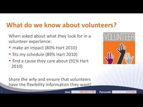 Building Sustainability Into a Volunteer Program