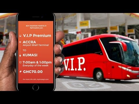 How to Book Accra-Kumasi VIP Bus using myTicketGH