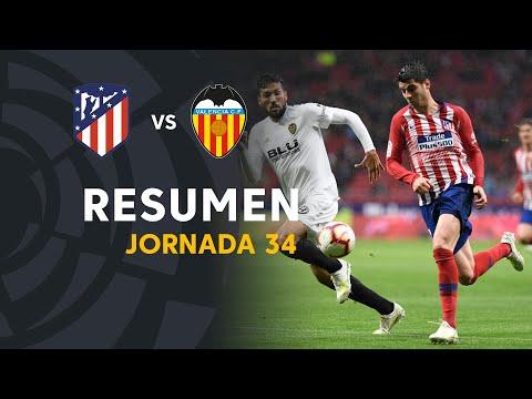 Resumen de Atlético de Madrid vs Valencia CF (3-2)