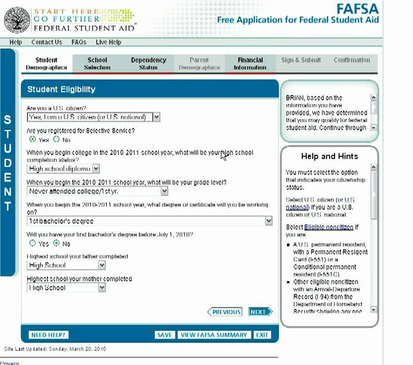 How to Fill Out the FAFSA if You're an Independent Student - YouTube