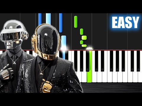 Daft Punk - Get Lucky - EASY Piano Tutorial by PlutaX