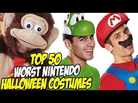 Top 50 WORST NINTENDO HALLOWEEN COSTUMES EVER!