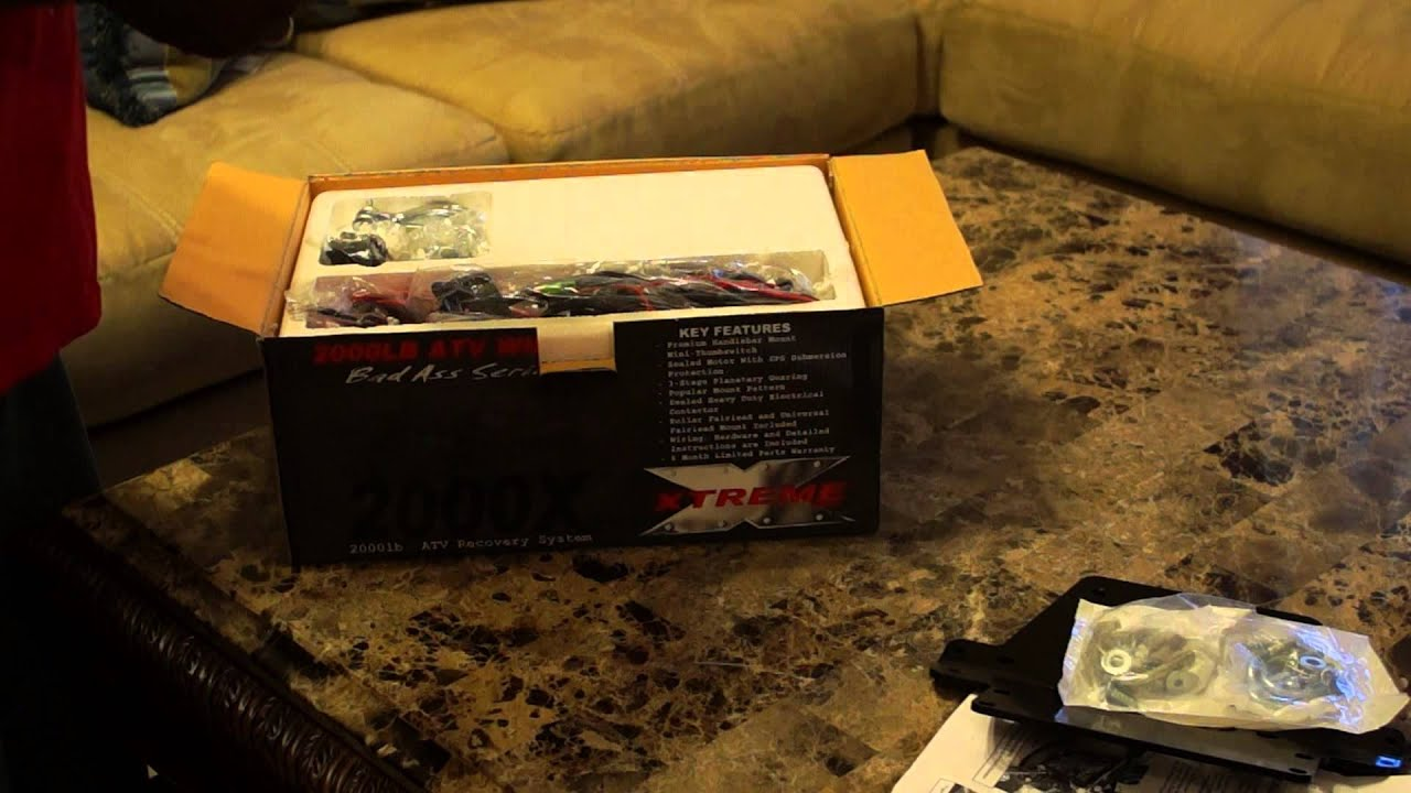 Unboxing 2000x Xtreme Bad Ass Atv Winch Youtube Wiring Diagram