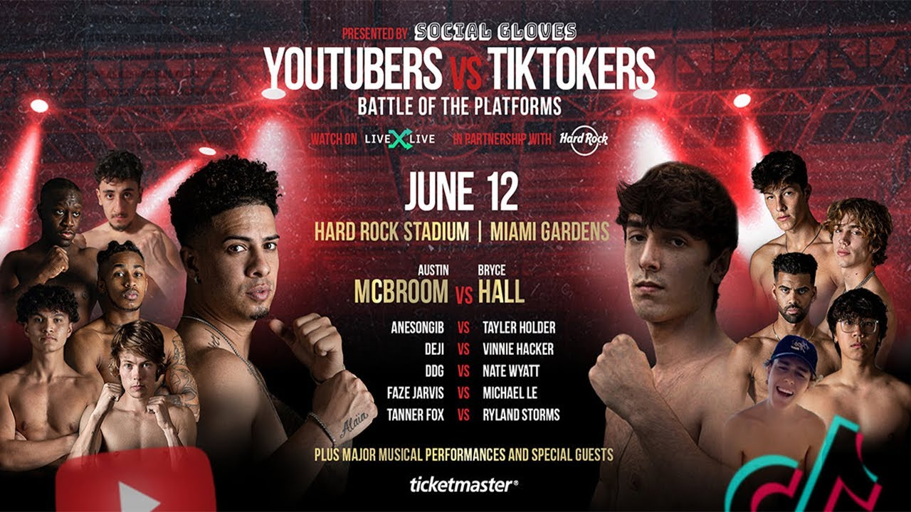 Watch Social Gloves Battle Of The Platforms Youtubers Vs Tiktokers 6/12/21