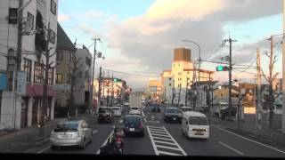 [FHD]若狭舞鶴エクスプレス 沓掛IC→京都駅 Bus Front view:Kutsukake to Kyoto Stn.
