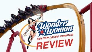 Wonder Woman Golden Lasso Coaster Review Six Flags Fiesta Texas