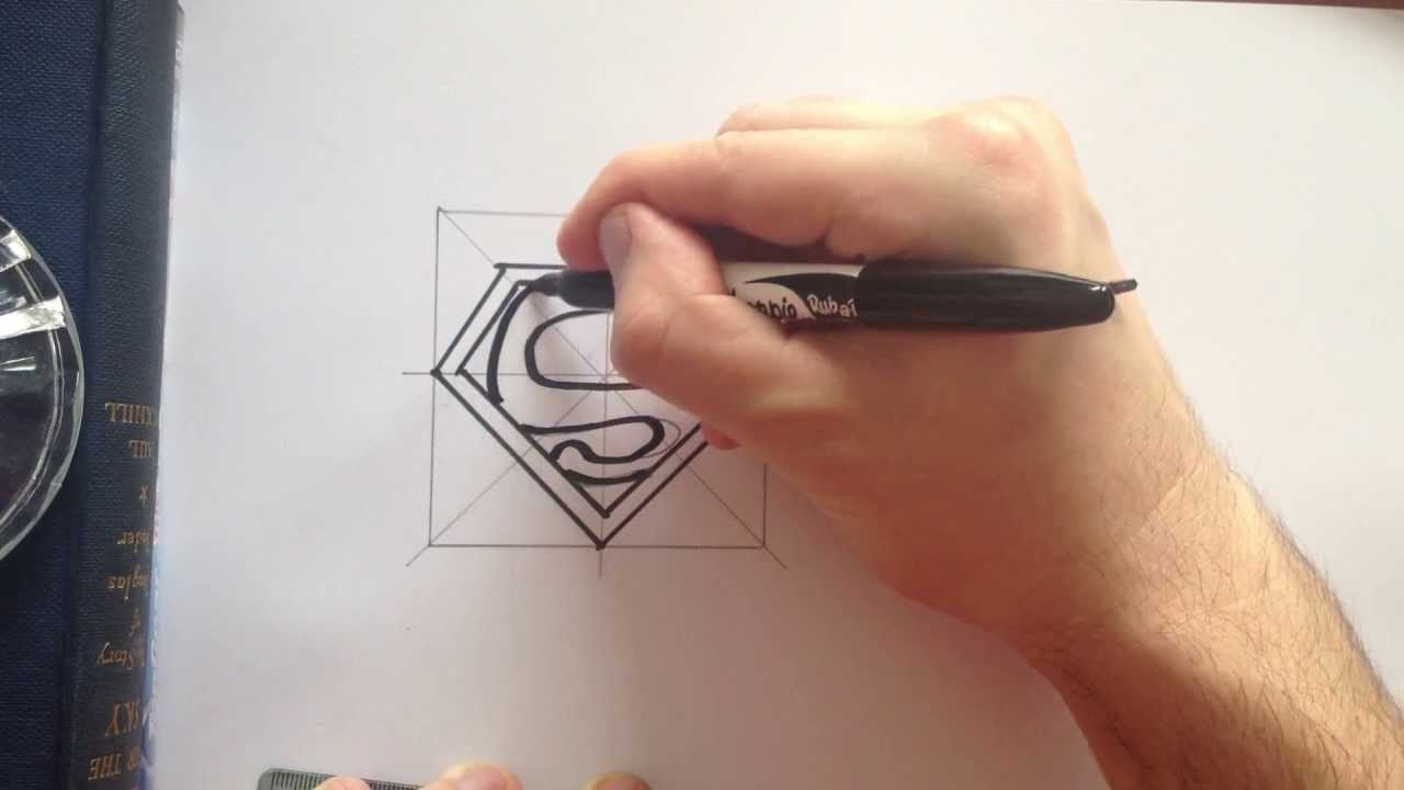 how to draw superman symbol