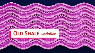 Old Shale Variations -  Stitch Pattern 5
