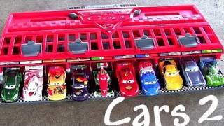 10 Cars Race Launcher World Grand Prix Speedway Cars 2 Multilanzadera Carreras Pixar cartoys review