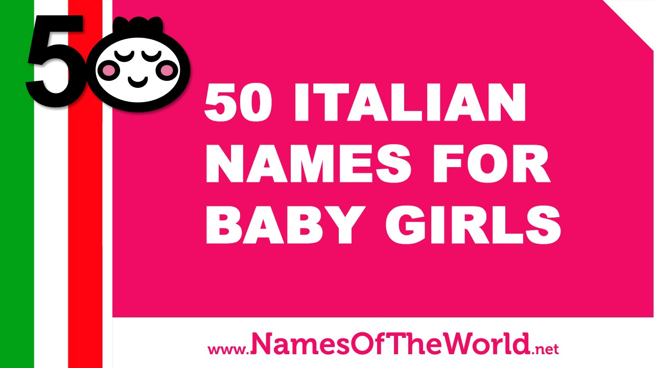 names for girls italian