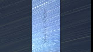 Vertical video. Traces from stars in the form of lines. Cape Sarich (Golden), the southernmost poin