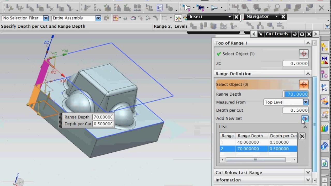 Siemens NX CAM tutorial creating CNC program for 3D model cavity mill