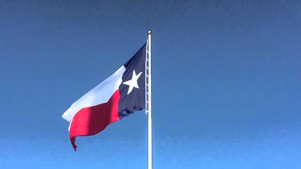 how to fly the texas flag
