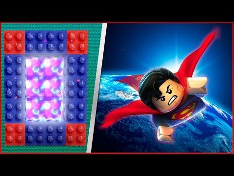 COMO FAZER UM PORTAL PARA O MUNDO DO LEGO SUPERMAN - Minecraft