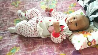CUTE NEWBORN FUNNY BABY!!! BABY XYRA LAUGHING WITH DAD!!! SHE IS TWO MONTHS OLD TODAY!!!