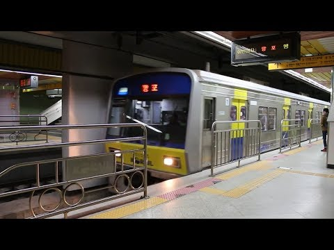 분당선 오리역에 들어온 망포행 열차 (Bundang L