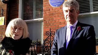 English Heritage blue plaque to Sir Patrick Abercrombie