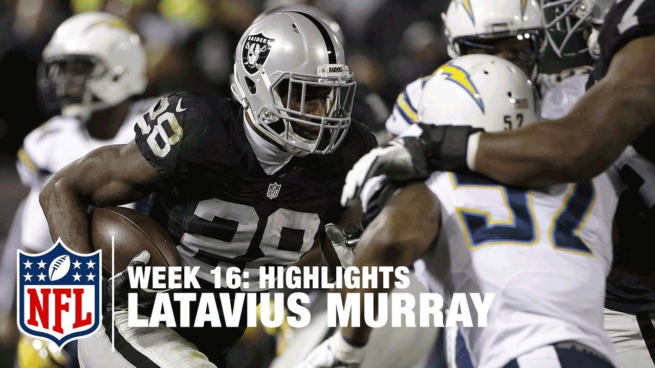 Latavius Murray Highlights Week 16 Chargers Vs Raiders Nfl Youtube