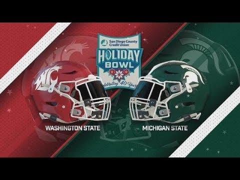 Holiday Bowl (2017) Highlights / Michigan State vs. Washington State