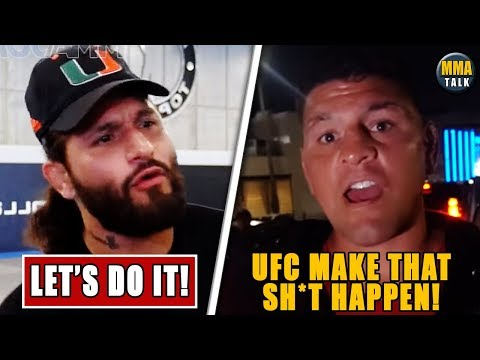 JORGE MASVIDAL & NICK DIAZ AGREED TO FIGHT EACH OTHER, CHAEL SONNEN ON NICK DIAZ VS JORGE MASVIDAL