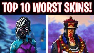 Top 10 WORST Skins In Fortnite! (Ugliest Skins)