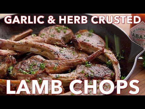 Dinner: Holiday Garlic & Herb Crusted Lamb Chops - Natasha's Kitchen