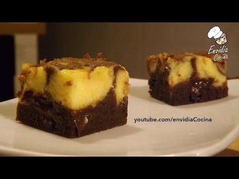 Brownie marmolado de Tarta de Queso | Brownie Cheesecake