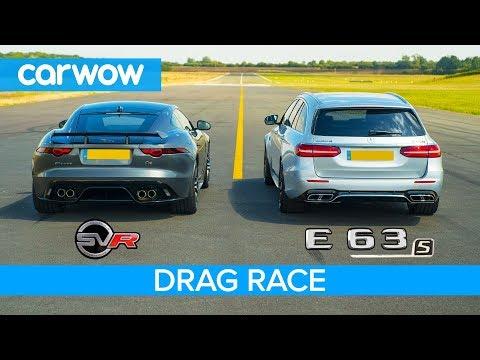 Jaguar F-Type SVR vs Mercedes-AMG E63 S – DRAG RACE, ROLLING RACE & BRAKE TEST